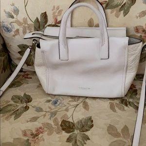 Authentic white coach cross body purse